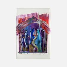 Reyes en el Nacimiento Rectangle Magnet (10 pack)