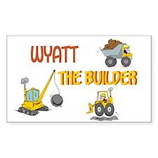 Wyatt the Builder Rectangle Decal