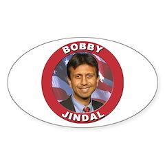 Bobby Jindal Oval Sticker (10 pk)