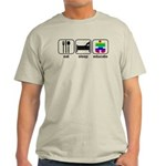 Eat Sleep Educate Light T-Shirt