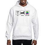 Eat Sleep Educate Hooded Sweatshirt