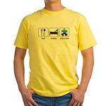 Eat Sleep Educate Yellow T-Shirt