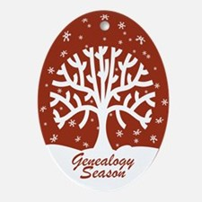 Genealogy Season Tree Ornament