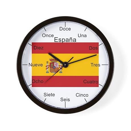 Spanish Large Flag Wall Clock
