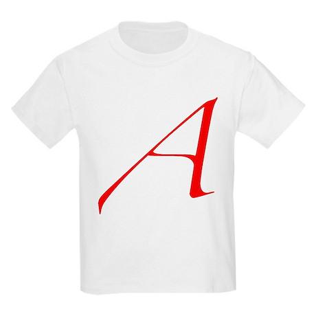 """The Atheist """"A"""" Kids Light T-Shirt"""