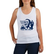Obama Yes We Did Women's Tank Top