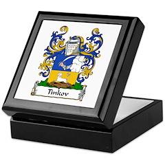 Tinkov Family Crest Keepsake Box