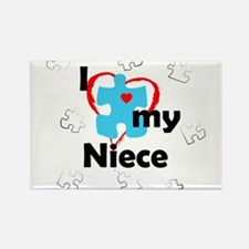 I Love My Niece - Autism Rectangle Magnet