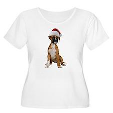 Santa Boxer Puppy T-Shirt