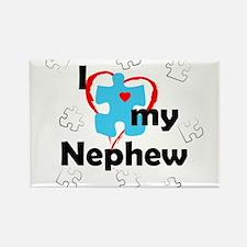 I Love My Nephew - Autism Rectangle Magnet