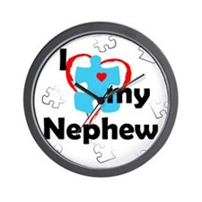 I Love My Nephew - Autism Wall Clock