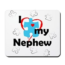 I Love My Nephew - Autism Mousepad