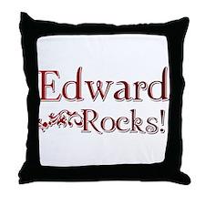 Edward Rocks! Throw Pillow