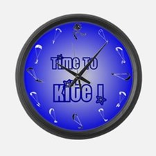 Kiteboarding Kitesurfing Large Wall Clock