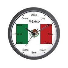 Mexico Large Flag Wall Clock