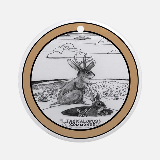 Jackalope Common Round Ornament