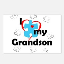 I Love My Grandson - Autism Postcards (Package of