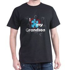 I Love My Grandson - Autism T-Shirt