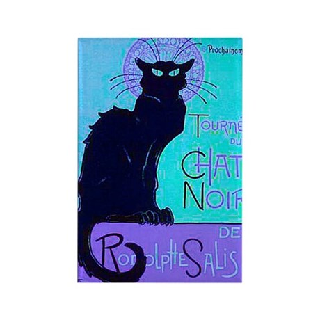 Chat Noir Rectangle Magnet (10 pack)