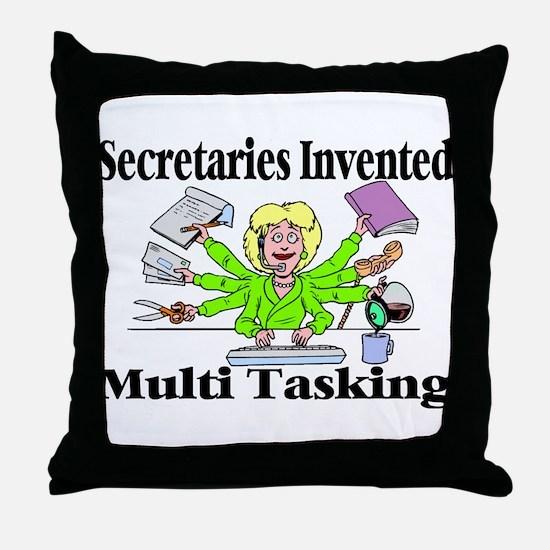 Secretaries Multi Task Throw Pillow