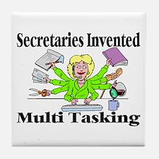 Secretaries Multi Task Tile Coaster