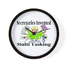 Secretaries Multi Task Wall Clock