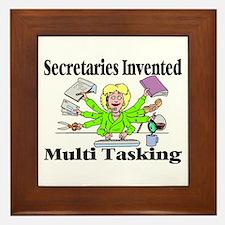 Secretaries Multi Task Framed Tile