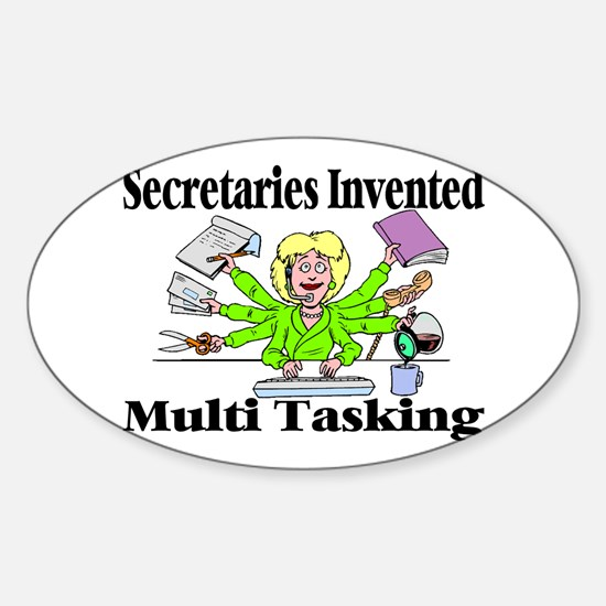 Secretaries Multi Task Oval Decal