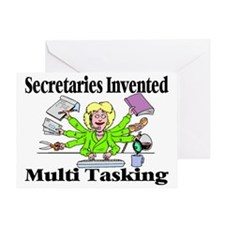 Secretaries Multi Task Greeting Card