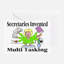 Secretaries Multi Task Greeting Card