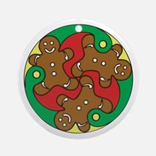Gingerbread Triskele Ornament (Round)