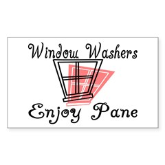 Window Washer Pane Rectangle Sticker 50 pk)