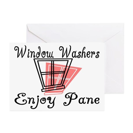 Window Washer Pane Greeting Cards (Pk of 20)