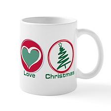 Peace Love Christmas Mug