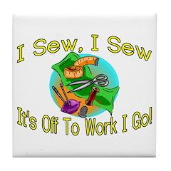 I Sew I Sew Tile Coaster