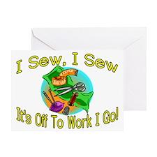 I Sew I Sew Greeting Card