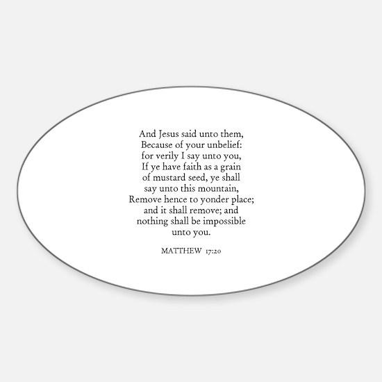 MATTHEW 17:20 Oval Decal