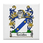 Tomilin Family Crest Tile Coaster