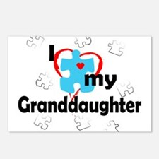 I Love My Granddaughter - Autism Postcards (Packag