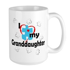 I Love My Granddaughter - Autism Mug