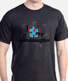I Love My Granddaughter - Autism T-Shirt