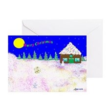 Unique Gingerbread Greeting Cards (Pk of 10)