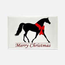 Cute Equestrian xmas Rectangle Magnet