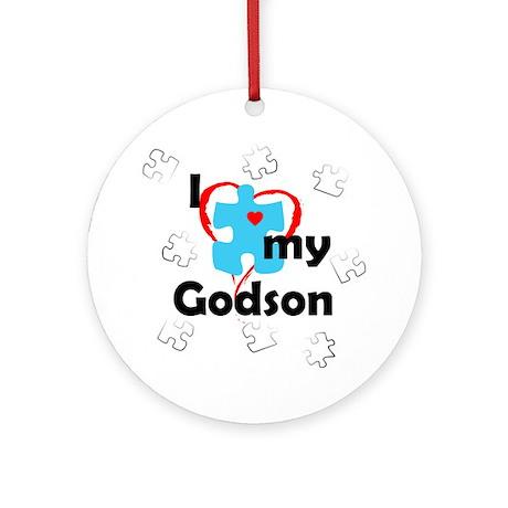 I Love My Godson - Autism Ornament (Round)