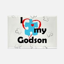 I Love My Godson - Autism Rectangle Magnet