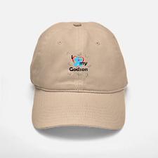 I Love My Godson - Autism Baseball Baseball Cap