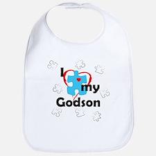 I Love My Godson - Autism Bib