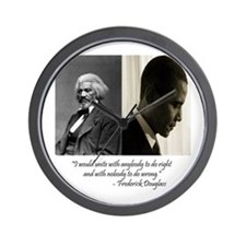 Douglass-Obama Wall Clock