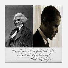 Douglass-Obama Tile Coaster