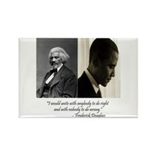 Douglass-Obama Rectangle Magnet